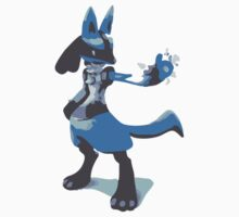 Minimalist Lucario from Super Smash Bros. Brawl Kids Clothes