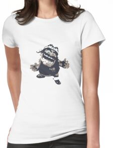Minimalist Wario from Super Smash Bros. Brawl Womens Fitted T-Shirt
