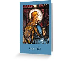 Mary Mother of God Card - Be it done to me Greeting Card