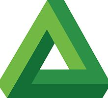 Impossible Triangle - Green by Gabby  Ortman