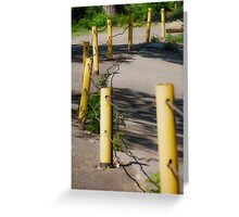Poles in a Row Greeting Card