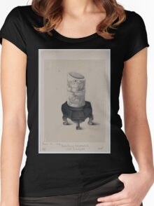 Ivory vase decorated with lacquer 001 Women's Fitted Scoop T-Shirt