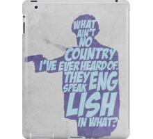Pulp Fiction - Jules: They Speak English in What? iPad Case/Skin