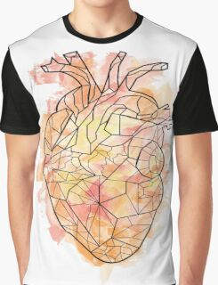 Water Colour Heart Graphic T-Shirt