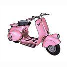 Pink Vespa by 73553