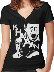 Star Trek Khan Women's Fitted V-Neck T-Shirt