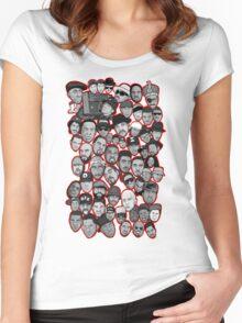 old school hip hop legends collage art Women's Fitted Scoop T-Shirt