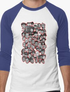 old school hip hop legends collage art Men's Baseball ¾ T-Shirt
