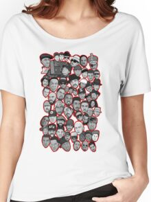 old school hip hop legends collage art Women's Relaxed Fit T-Shirt