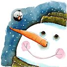 Snowman in green by StressieCat