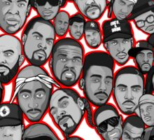 old school hip hop legends collage art Sticker