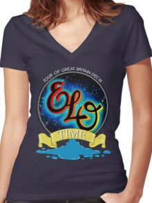 E.L.O. TIME TOUR 1981 Women's Fitted V-Neck T-Shirt