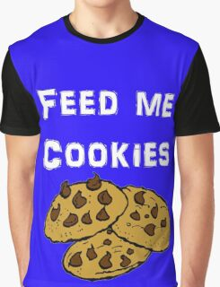 Iskybibblle Products / Feed me Cookies/ White Graphic T-Shirt