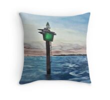 Houston Ship Channel - Trinity Bay Throw Pillow