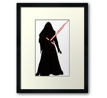 Kylo Ren Shadow Style Framed Print