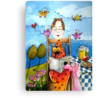 Grandma's Story Time Canvas Print