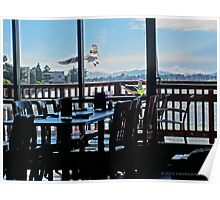 Table with a view of the Bay Poster