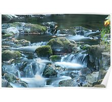 grist mill waterfalls Poster
