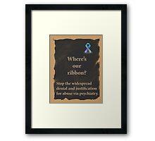 Psychiatric abuse awareness ribbon Framed Print