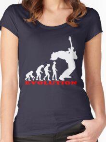 bass player, bass evolution Women's Fitted Scoop T-Shirt