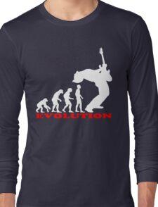 bass player, bass evolution Long Sleeve T-Shirt