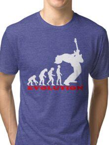 bass player, bass evolution Tri-blend T-Shirt