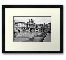 At the Louvre-Pavillon Sully Framed Print