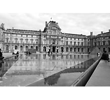 At the Louvre-Pavillon Sully Photographic Print