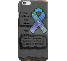 Psychiatric abuse awareness ribbon iPhone Case/Skin