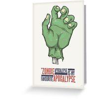 Zombie Apocalypse Greeting Card
