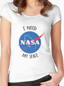 I Need My Space (NASA) Women's Fitted Scoop T-Shirt