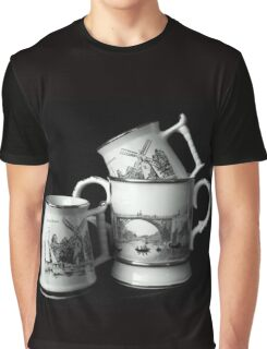 Windmills and a Bridge  Graphic T-Shirt