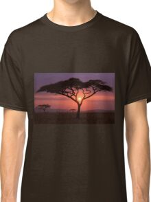 African Tree In Front Of Sunset Classic T-Shirt
