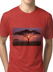 African Tree In Front Of Sunset Tri-blend T-Shirt