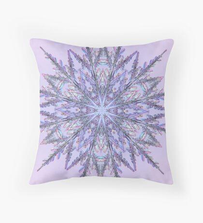 Lavender Snowflake  Throw Pillow