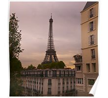 Eiffel Tower at Sunset Poster