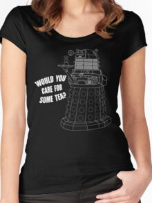 Dalek Cuppa Women's Fitted Scoop T-Shirt