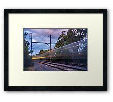 Commuter Train Framed Print