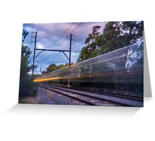 Commuter Train Greeting Card