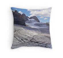 Dachstein glaciers II Throw Pillow