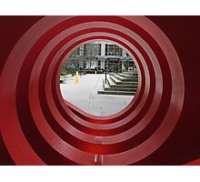 Red Spiral Photographic Print
