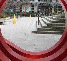 Red Spiral Sticker