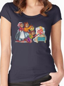 Masha and 3 bears Women's Fitted Scoop T-Shirt