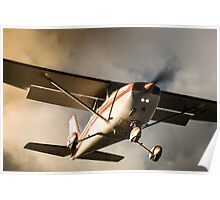 Sunset Arrival Cessna 172 Poster