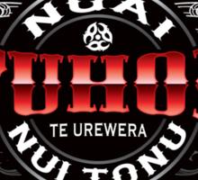Tuhoe Lifer moko Red chrome Sticker