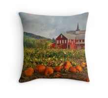 Country Pumpkins Throw Pillow