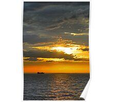 Sunset on Port Phillip Bay Poster