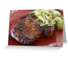 grilled pork chops Greeting Card