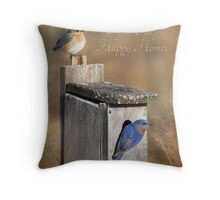 Bless Our Happy Home Throw Pillow