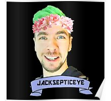 jacksepticeye with a flower crown Poster